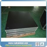 Этап случая напольного этапа платформы алюминиевой рамки деревянный