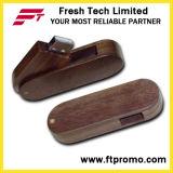로고 (D806)를 가진 대나무와 목제 작풍 USB 섬광 드라이브