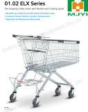 Carro de compras de la tienda al por menor del supermercado con el espacio de cargamento adicional de Flexilble
