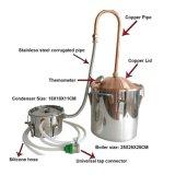 del coperchio 3gal POT domestico di rame del kit di preparazione della birra del distillatore dell'alcool di Distillator del brandy ancora
