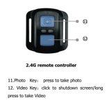 Камера спорта кулачка шлема камеры V3 WiFi действия подводная водоустойчивая