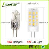 La mini lumière d'ampoule de maïs de DEL 5W chauffent l'ampoule G4 blanche