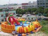 Sosta gonfiabile dell'acqua di carnevale gigante esterno di estate per l'adulto ed i bambini