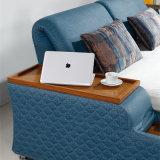Bâti mou de tissu bleu de couleur pour l'usage de chambre à coucher (FB8047A)