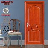 Puertas de madera interiores de la chapa de la base sólida de caoba del MDF (GSP6-015)