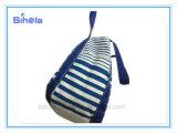 Streifen-Entwurfs-blauer und rosafarbener Farben-Segeltuch-Beutel