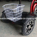 バスケットが付いているセリウムによって証明されるリチウム電池のFolableの3車輪の電気スクーター