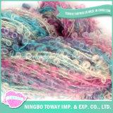 Boucle acrilico-lana colorato abitudine della tessile che lavora a mano filato fantasia