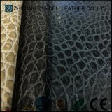 Customized Color Crocodile Pattern Semi-PU Furniture Leather