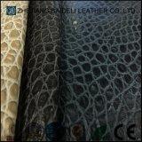 Cuoio personalizzato della mobilia dell'Semi-UNITÀ DI ELABORAZIONE del reticolo del coccodrillo di colore