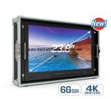 23.8 '' 6g-Sdi 3840*2160 4k Monitor-Auflösung mit Vierradantriebwagen-Beleg-Bildschirmanzeige