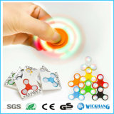 LED-Handspinner-Tri Unruhe-keramische Kugel-Schreibtisch-Spielzeug EDC-Strumpfstuffer-Kinder/Erwachsener