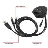 3 mozzo del caricatore dello in-Scrittorio del USB 3.0 delle porte con le audio e porte di carichi per il telefono mobile del PC