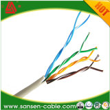 高品質の固体銅24AWG 0.5mm 4pair UTP Cat5 /Cat5eケーブル