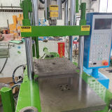 Tipo verticale macchina dello stampaggio ad iniezione della gomma di silicone della Tabella della trasparenza