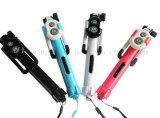 Bastone senza fili allungabile di Selfie del telefono dell'OEM Bluetooth con il treppiedi