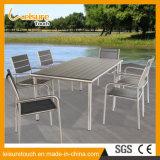 屋外の家具の寄木細工の床のプラスチック木製の椅子表セットを販売する2016の新式の製造業者
