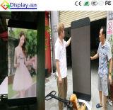 Visualización de poste a todo color al aire libre del semáforo P10 para hacer publicidad