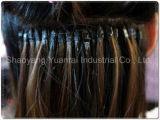 Cheratina di fusione con l'estensione Pre-Legata piana dei capelli umani di /U Remy
