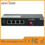 4 interruptor da rede Ethernet da porta 10/100m com 1 porta da fibra
