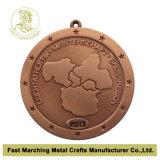 Medaglia personalizzata con la placcatura d'ottone antica, medaglione del ricordo