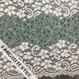Tela de nylon do laço do algodão colorido do projeto da flor