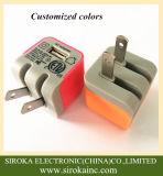 L'universale variopinto 1A sceglie il caricatore del telefono delle cellule del USB