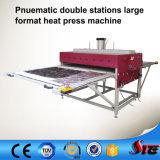 Strumentazione di alluminio pneumatica di vendita calda della pressa di calore del piatto di formato ampio
