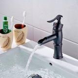 Flg Basin Faucet Robinet de Bronze Frotté Huile Torche / Robinet Waterfall