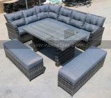 Set de jantar de cubo de sofá de bambu de jardim Mobília de pátio de enrutado ao ar livre (MTC-238)