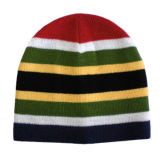 Chapéu de confeção de malhas listrado colorido (JRK179)