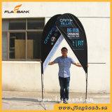 3.4m Tradeshow-bewegliche Strand-Aluminiummarkierungsfahne/Fliegen-Markierungsfahne