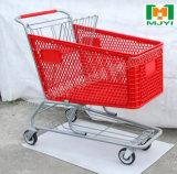 플라스틱 슈퍼마켓 편리한 소매점 쇼핑 트롤리