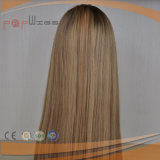 Волос девственницы Remy верхнего качества парик Sheitel людских еврейский Kosher Silk верхний (PPG-l-0240)