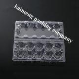 Bandeja de huevos de pollo de China desechables de plástico transparente de PVC de embalaje