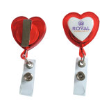 Вьюрок значка формы сердца качества Retractable пластичный