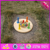 Brinquedo de madeira do lance do anel do bebê de 2016 vendas por atacado, brinquedo de madeira do lance do anel dos miúdos engraçados, a maioria de brinquedo de madeira W01A159 do lance do anel das crianças populares