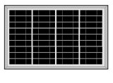 gerador 50W solar com Construir-no carregador da C.A.