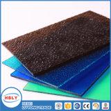 El panel sólido material del policarbonato del edificio de la azotea plana clara del toldo