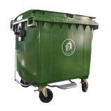 grande contenitore di rifiuti di plastica del Wheelie 1100L
