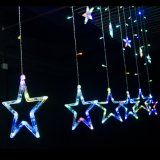 도매 2m 138LEDs 12 크리스마스 Xmas 훈장 LED 별 커튼 빛을%s 큰 별 빛