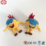 黄色く小さい人形の摩耗の帽子のかわいく幸せなプラシ天の刺繍のおもちゃ