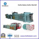 Máquina de colocação de correias hidráulica horizontal para o papel Waste de compressão, plásticos
