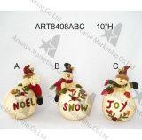 Décoration Santa de Noël, détenteur de carte de bonhomme de neige et Doorknob-3asst