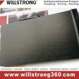 Materiale composito di alluminio spazzolato il nero