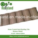 Tuile de toit en acier enduite de puce en pierre (tuile de Milan)