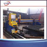 Máquina de estaca da máquina/saliência de estaca da tubulação do plasma do CNC e da placa de aço