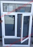 米国式アルミニウム木製のWindows、最新の現代木Alu Windows、二重か三重の艶出しのガラス窓、標準アメリカの傾き及び回転Windows