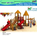 Sale (HD-5502)를 위한 옥외 Wooden Playground Slide