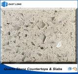 SGS 보고 (석영 색깔)를 가진 싱크대 탁상용을%s Polished 인공적인 돌
